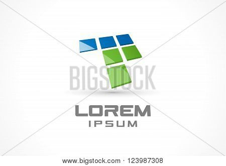 Icon design element. Abstract logo idea for business company.  Computer, web, technology, internet and mobile app concepts. Pictogram for corporate identity template. Stock Illustration Vector
