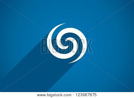 Flat icon design element. Abstract logo idea for business company.  Eco, green, water, spiral, cosmetics and medical concepts.  Pictogram for corporate identity template. Stock Illustration Vector