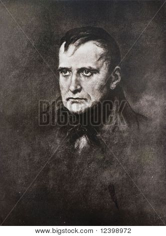 napoleon bonaparte antique lithographic portrait
