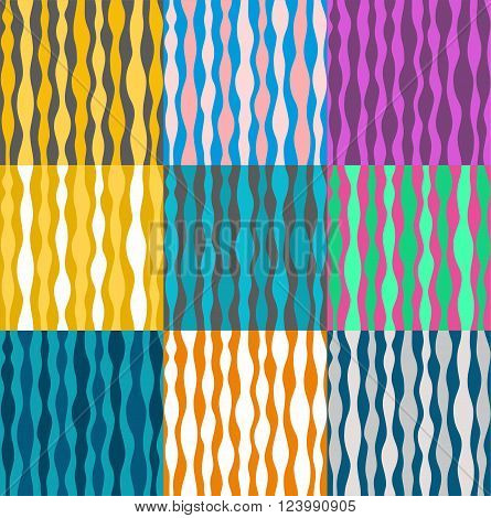 Vector colored background with abstract pattern. Teardrop-shaped, vertical stripes. Seamless pattern. For the decoration.