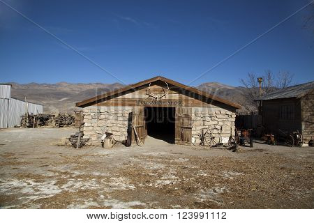 Old Blacksmith's Shop at Laws Ghost Town