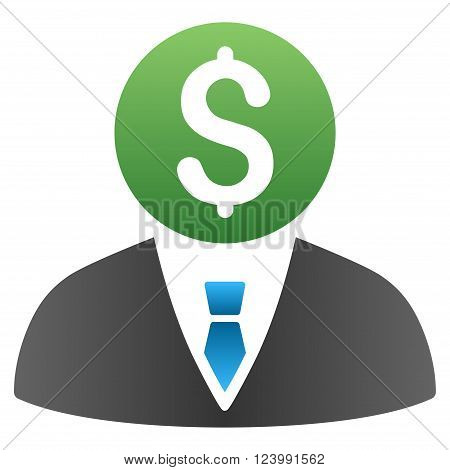 Banker vector toolbar icon for software design. Style is a gradient icon symbol on a white background.