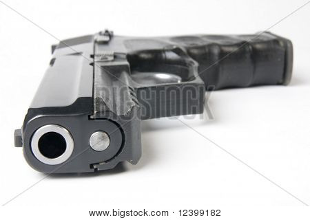 close up of handgun