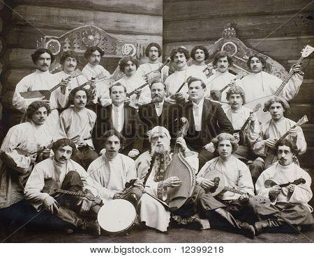 Folk-Orchester - alte Foto 1904-y.