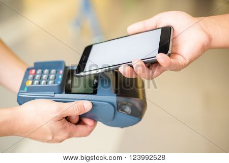 Customer pay the bill by NFC