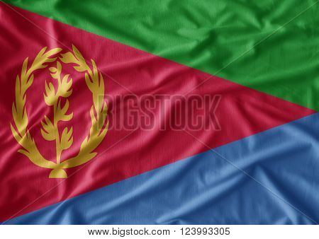 Fabric texture of the flag of Eritrea