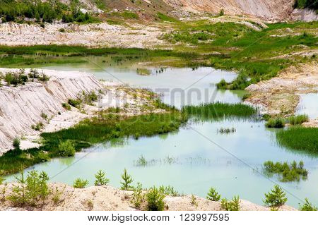 An old quarry filled up with water