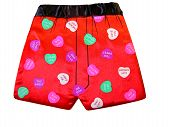 picture of boxer briefs  - red boxer briefs with quotes for your sweetheart - JPG