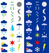 Symbols For The Indication Of Weather. poster