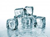 picture of ice-cubes  - melting ice cubes - JPG