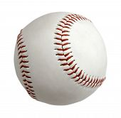 pic of softball  - Baseball ball isolated on white background - JPG
