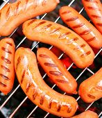 picture of grilled sausage  - sausage - JPG