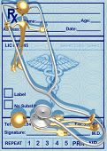 3D Stethoscope Patient Check Up Concept poster