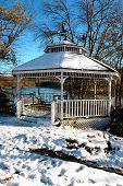 At Hager Pond, Marlborough, Ma. A Typical New England Winter Sce