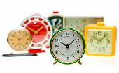 stock photo of wind up clock  - Vintage mechanical wind - JPG