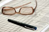Eye Glasses & Pen