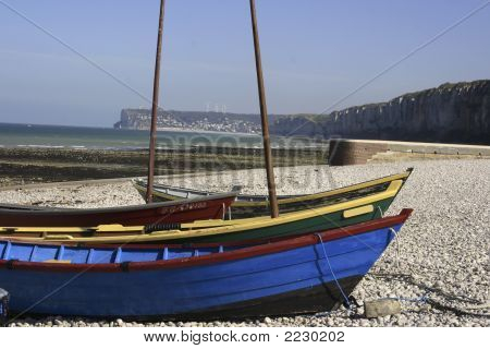 Boats On The Normandy Coast