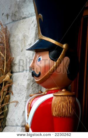 Toy Soldier Standing Guard