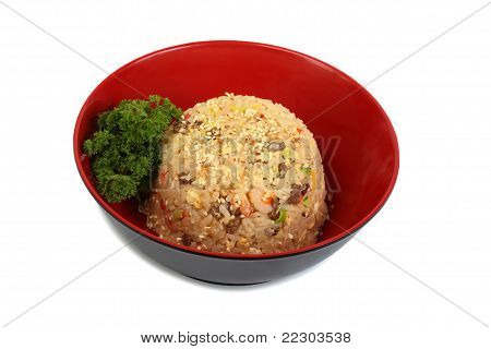 Dish Rice With Seafood