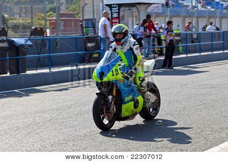 Moto2 Pilot Renaud Binoche Of The Cev Championship