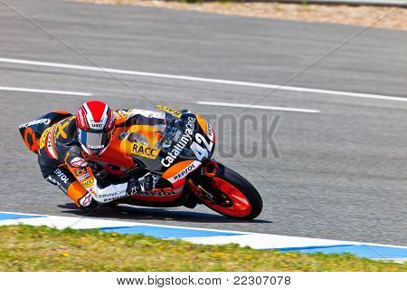 Alex Rins Pilot Of 125Cc  Of The Cev Championship
