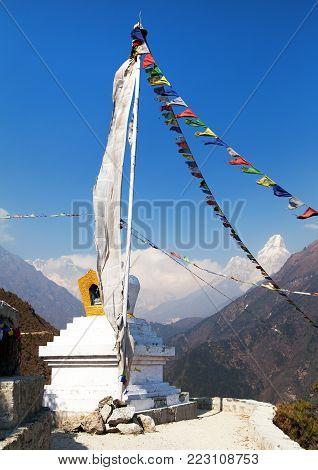 White stupa and