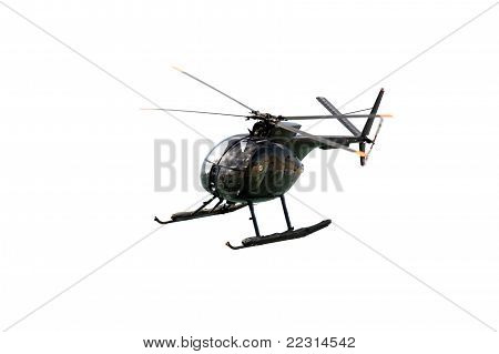 Black Military Helicopter