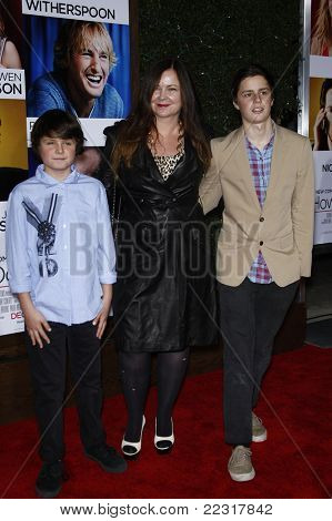 LOS ANGELES, CA - DEC 13: Jennifer Nicholson and her sons at the world premiere of 'How Do You Know' held at the Regency Village Theater on December 13, 2010 in Los Angeles, California
