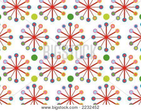 Retro Color Wheel Pattern (Vector)