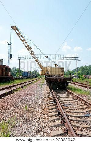 A Rail Track Mounted Crane.