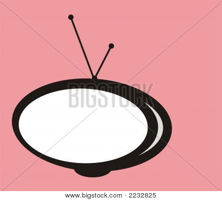 Abstract Isolated Retro Tv Graphic