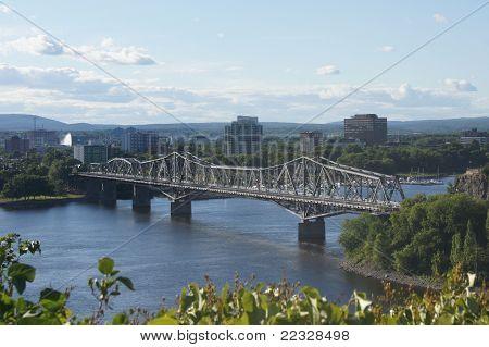 Bridge from Ottawa to Gatineau, QC
