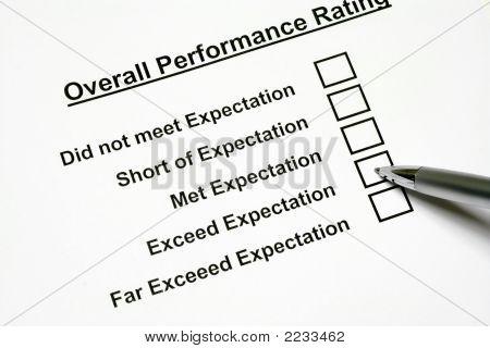 Calificación de rendimiento global
