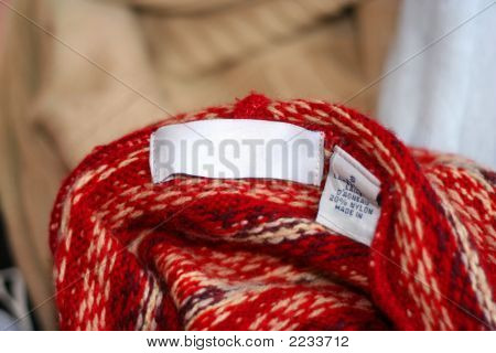 Sweater Clothing Label Tag