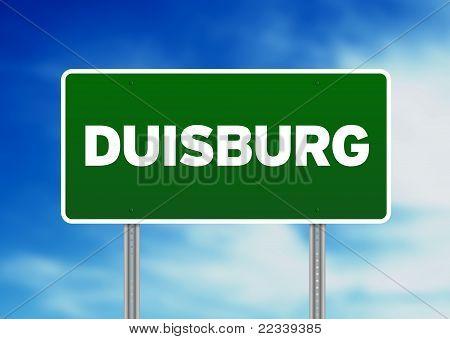 Green Road Sign - Duisburg