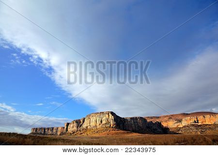 Sandstone Rock And Sky