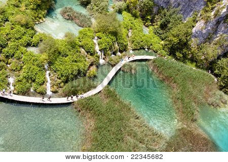Aerial View - Plitvicka Lake - Croatia