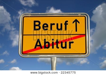 German Road Sign Graduation And Profession