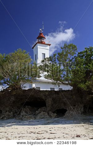 Nungwi beach lighthouse, Zanzibar