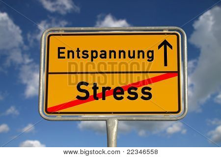 German Road Sign Stress  And Relaxation