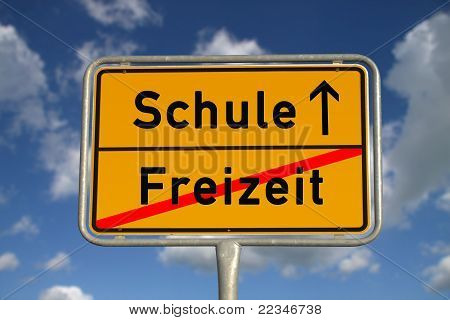 German Road Sign Leisure School