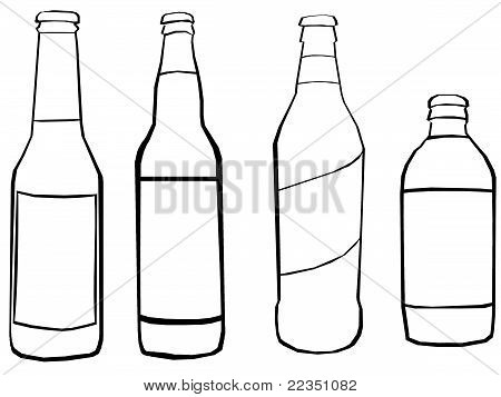 Illustration Of Four Beers