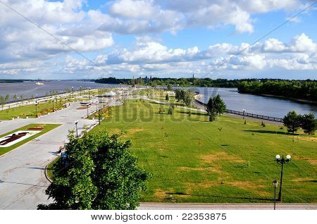 Overlooking the Volga - Yaroslavl