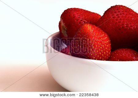 Strawberry In Dish