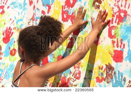 Girl Playing With Paint