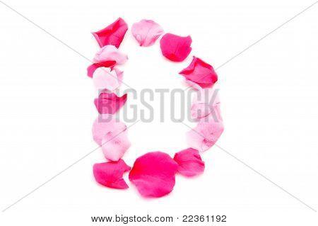 Pink Petal Letter - Capital D