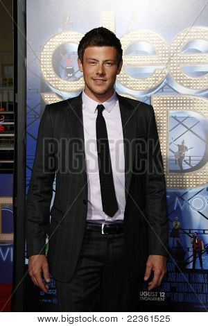 LOS ANGELES - AUG 6: Cory Monteith at the premiere of Twentieth Century Fox's 'Glee The 3D Concert Movie' held at the Regency Village Theater on August 6, 2011 in Los Angeles, California