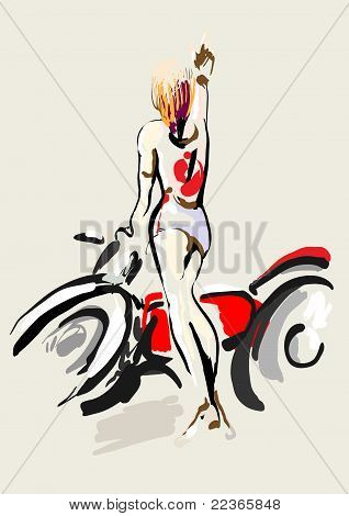 Chica Biker
