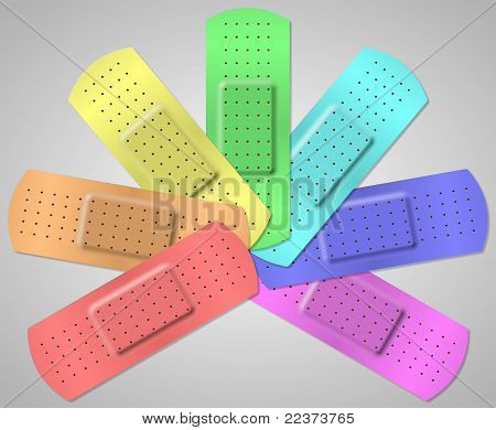 Colorful adhesive bandage