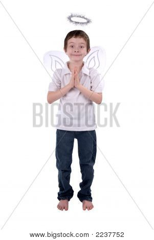 Young Boy In An Angel Costume